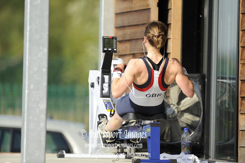 Caversham, Great Britain. Sophie HOSKING, Ergo.  GB Rowing media day, GB Rowing Training Centre, Caversham. Tuesday,  18/05/2010 [Mandatory Credit. Peter Spurrier/Intersport Images]