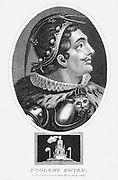 Ptolemy I, Soter (d283 BC). One of greatest generals of Alexander the Great, on whose death he became king of Egypt, founding the Ptolemaic dynasty which ended with Cleopatra VII. Stipple engraving 1803.