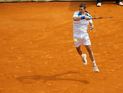MONTE-CARLO, MONACO - Friday, April 16, 2010: Juan Carlos Ferrero (ESP) in action during the Men's Single's Quarter-Final on day five of the ATP Masters Series Monte-Carlo at the Monte-Carlo Country Club. (Photo by David Rawcliffe/Propaganda)