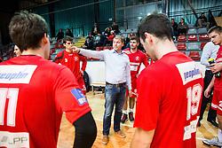 Bostjan Ficko, head coach of Slovan during handball match between RD Slovan and RK Gorenje Velenje in Round #10 of 1. NLB Leasing liga 2015/16, on November 13, 2015 in Arena Kodeljevo, Ljubljana, Slovenia. Photo by Vid Ponikvar / Sportida