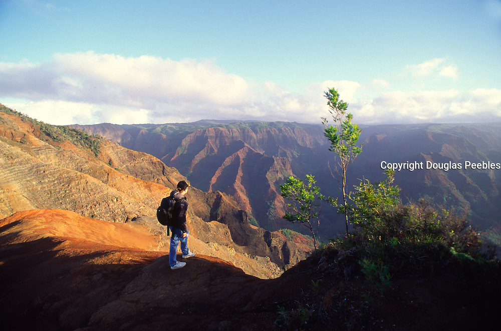 Hiking, Waimea Canyon, Kauai, Hawaii<br />