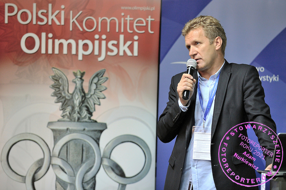 Andrzej Piatek (Sport's Director of Polish Cycling Association) during conference of olympic trainers and coaches at COS (Centralny Osrodek Sportowy) in Spala on May 14, 2014.<br /> <br /> Poland, Spala, May 14, 2014<br /> <br /> Picture also available in RAW (NEF) or TIFF format on special request.<br /> <br /> For editorial use only. Any commercial or promotional use requires permission.<br /> <br /> Mandatory credit:<br /> Photo by &copy; Adam Nurkiewicz / Mediasport