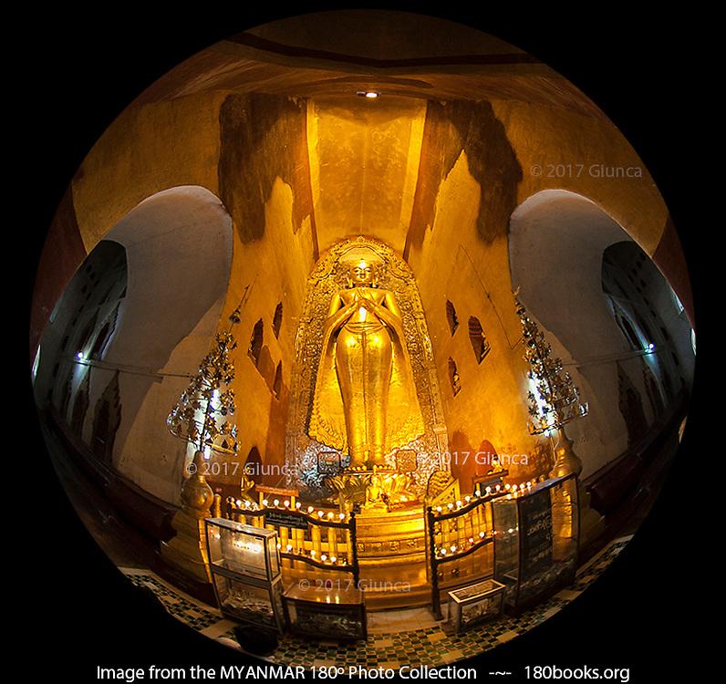 Buddha Image at Ananda Temple in Bagan, Myanmar