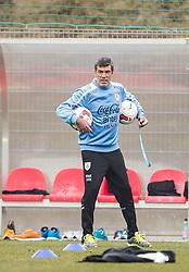 KLAGENFURT, AUSTRIA - Tuesday, March 4, 2014: Uruguay's head coach Oscar Tabarez at the Woerthersee Arena ahead of the international friendly against Austria. (Pic by JFK/EXPA/Propaganda)
