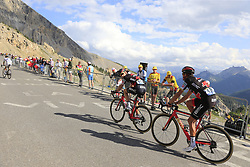 Danilo Wyss (SUI) and Greg Van Avermaet (BEL) BMC Racing Team climb Col d'Izoard during Stage 18 of the 104th edition of the Tour de France 2017, running 179.5km from Briancon to the summit of Col d'Izoard, France. 20th July 2017.<br /> Picture: Eoin Clarke | Cyclefile<br /> <br /> All photos usage must carry mandatory copyright credit (© Cyclefile | Eoin Clarke)