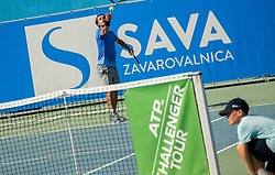 Nik Razborsek (SLO) in action during Day 5 at ATP Challenger Zavarovalnica Sava Slovenia Open 2018, on August 7, 2018 in Sports centre, Portoroz/Portorose, Slovenia. Photo by Vid Ponikvar / Sportida