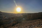 Desert sunset Photographed in Israel, Negev desert