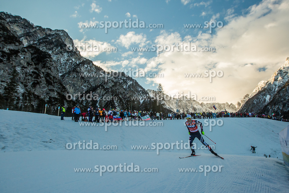 Federico Pellegrino of Italy during Mans 1.2 km Free Sprint Qualification race at FIS Cross Country World Cup Planica 2016, on January 16, 2016 at Planica, Slovenia. Photo By Grega Valancic / Sportida