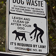 """Dog Waste is a threate to the health of our children. degrades our town - transmits disease.  Leash and clean up after your dog. It's Required by Law!"""""""