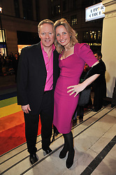 RORY & TESSA BREMNER arrive at the press night of the new Andrew Lloyd Webber  musical 'The Wizard of Oz' at The London Palladium, Argylle Street, London on 1st March 2011 followed by an aftershow party at One Marylebone, London NW1