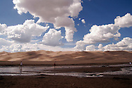 colorado, great sand dunes national monument, sky, clouds, landscape, road trip