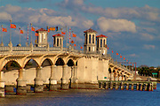 "The old ""Bridge of Lions"" in St. Augustine, Florida. This photograph was taken on a late fall day in 2004."