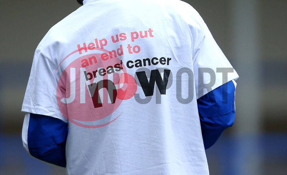Bristol Rovers wear 'Breast Cancer Now' shirts - Mandatory by-line: Robbie Stephenson/JMP - 21/10/2017 - FOOTBALL - Crown Oil Arena - Rochdale, England - Rochdale v Bristol Rovers - Sky Bet League One