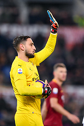 February 3, 2019 - Rome, Rome, Italy - Gianluigi Donnarumma of Milan during the Serie A match between Roma and AC Milan at Stadio Olimpico, Rome, Italy on 3 February 2019. (Credit Image: © Giuseppe Maffia/NurPhoto via ZUMA Press)