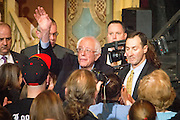 Democratic Presidential candidate Bernie Sanders (VT) holds a campaign event at the Rochester Opera House in Rochester, NH. ahead of the Tuesday primary election.