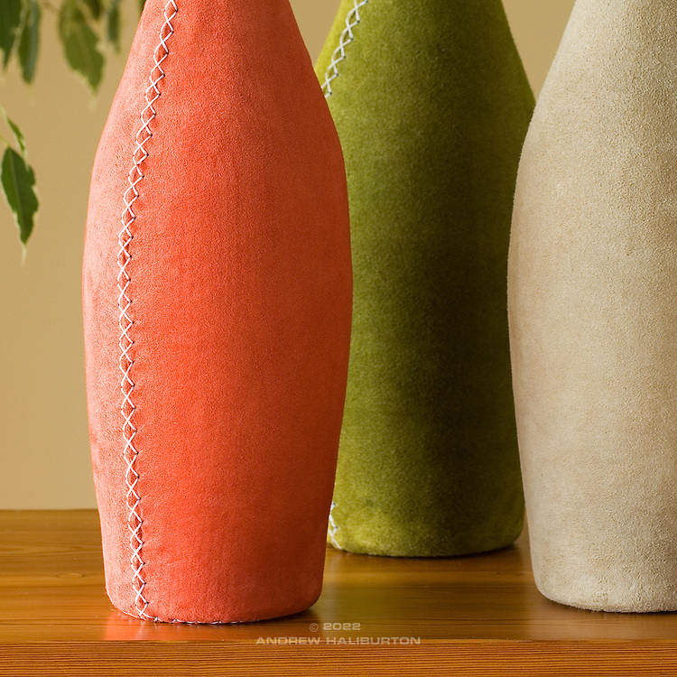 Group Pisa Vases; Avocado, Toffee and Orange