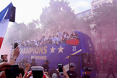 World Champions Parade Down The Champs Elysees - 16 July 2018