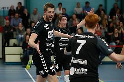 20181124 NED: Volleyball Top League ZVH - VCV: Zevenhuizen<br />Wouter Van Ark (10) of MKB Accountants VCV, Sven Vermeulen (4) of MKB Accountants VCV <br />©2018-FotoHoogendoorn.nl / Pim Waslander