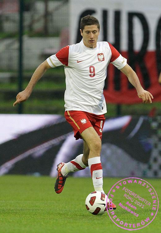 LODZ 04/09/2010.FOOTBALL INTERNATIONAL FRIENDLY.POLAND v UKRAINE.Robert Lewandowski of Poland ..Fot: Piotr Hawalej / WROFOTO