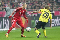 19-11-2011 VOETBAL: FC BAYERN MUNCHEN - BORUSSIA DORTMUND: MUNCHEN<br /> Arjen Robben en  Marcel Schmelzer<br /> ***NETHERLANDS ONLY***<br /> ©2011-FRH- NPH/Straubmeier