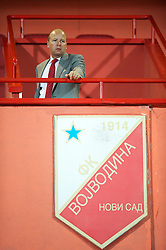 NOVI SAD, SERBIA - Tuesday, September 11, 2012: Wales' Chief-Executive Jonathan Ford during the 2014 FIFA World Cup Brazil Qualifying Group A match against Serbia at the Karadorde Stadium. (Pic by David Rawcliffe/Propaganda)