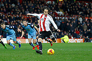Brentford midfielder Jota (23) takes a penalty and scores (3-2) during the EFL Sky Bet Championship match between Brentford and Rotherham United at Griffin Park, London, England on 25 February 2017. Photo by Andy Walter.