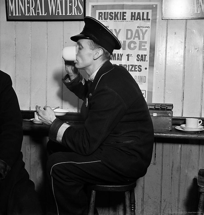 Busman Drinking Tea, London, 1937
