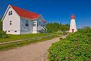 Lighthouse and lightkepper's house, Cap-de-Bon-Desir, Quebec, Canada