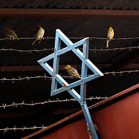 A Star of David at the Synagogue in Gondar, Ethiopia, May 2008.