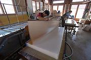 Korean Traditional Paper Institute. Han-ji (traditional Korean paper from mulberry bark) making demonstration.