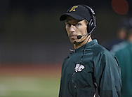 Kennedy head coach Tim Lewis during first quarter of the game between Cedar Rapids Jefferson and Cedar Rapids Kennedy at Kingston Stadium in Cedar Rapids on Friday September 28, 2012. It was 24-0 Kennedy at halftime.