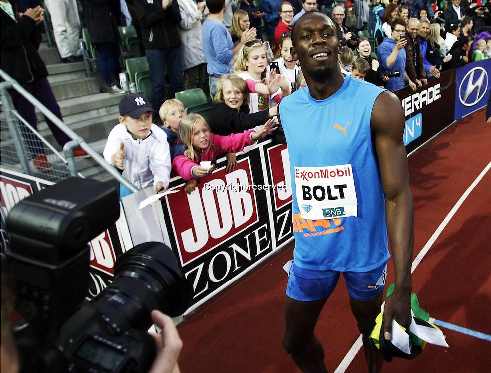 07.06.2012. Paris, France.   Diamond League Bislett Games Usain Bolt Jam 100 metres mes WINNER