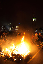 © under license to London News Pictures. 9/12/2010. On the day that MPs vote on tuition fees, 1000s demonstrated in London against a proposed rise in fees and cuts in support.