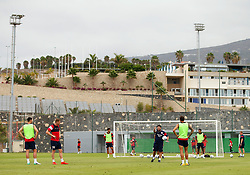 Bristol City head coach Lee Johnson talks with his players during training - Mandatory by-line: Matt McNulty/JMP - 21/07/2017 - FOOTBALL - Tenerife Top Training Centre - Costa Adeje, Tenerife - Pre-Season Training