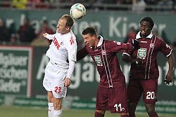 05.02.2012, Fritz Walter Stadium, Kaiserslautern, GER, 1. FBL, 1.FC Kaiserslautern vs 1.FC Koeln, 20. Spieltag, im Bild Kevin MCKENNA (1.FC Koeln) im Kopfballduell mit Sandro WAGNER (1.FC Kaiserslautern), Aktion/ Action // during the German Bundesliga Match between 1.FC Kaiserslautern vs 1.FC Koeln at the Fritz Walter Stadium in Kaiserslautern, Germany, 2012/02/05. EXPA Pictures © 2012, PhotoCredit: EXPA/ Eibner/ Alexander Neis..***** ATTENTION - OUT OF GER *****