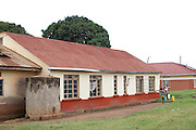 An external view of the maternity wing at   Kasangati Health Centre in Uganda.