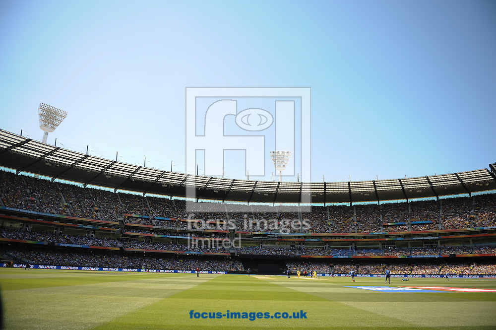 A general view of the Melbourne Cricket Ground during the 2015 ICC Cricket World Cup match at Melbourne Cricket Ground, Melbourne<br /> Picture by Frank Khamees/Focus Images Ltd +61 431 119 134<br /> 14/02/2015