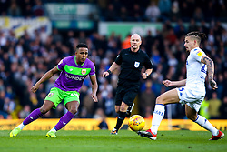 Niclas Eliasson of Bristol City takes on Kalvin Phillips of Leeds United - Mandatory by-line: Robbie Stephenson/JMP - 24/11/2018 - FOOTBALL - Elland Road - Leeds, England - Leeds United v Bristol City - Sky Bet Championship