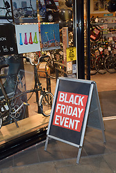 Black Friday, Norwich UK 29/11/19. Cycle Republic shop