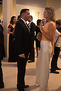 ROLAND MOURET; TONI GARRN, The Neo Romantic Art Gala in aid of the NSPCC. Masterpiece. Chelsea. London.  30 June 2015