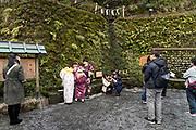 people at the Kifune shrine in Kurama Kyoto Japan