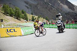 Lizzie Deignan (GBR) of Boels-Dolmans Cycling Team rides near the finish of at La Course 2017 - a 67.5 km road race, from Briancon to Izoard on July 20, 2017, in Hautes-Alpes, France. (Photo by Balint Hamvas/Velofocus.com)