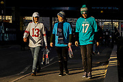 Fans start to arrive early prior to the International Series match between Tennessee Titans and Los Angeles Chargers at Wembley Stadium, London, England on 21 October 2018.