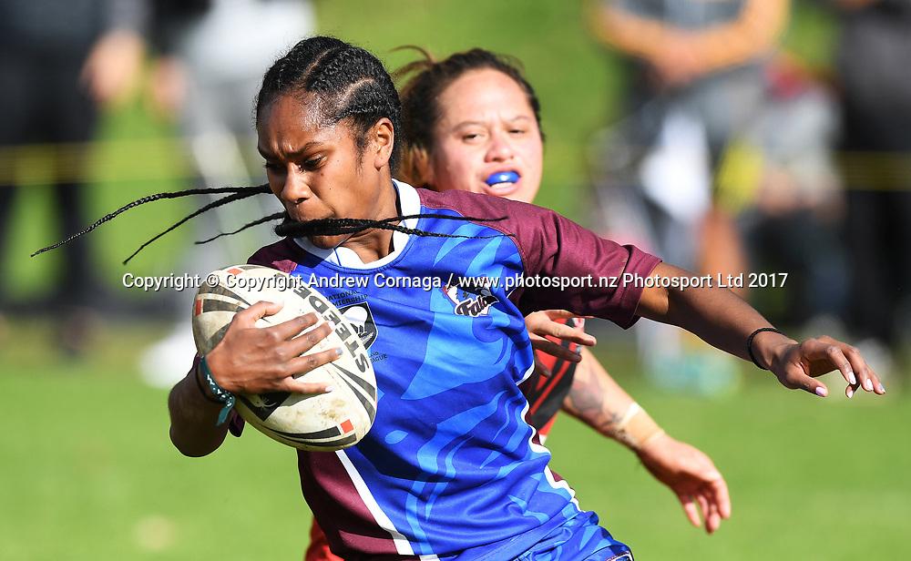 Talei Kidd. Akarana v Counties Manukau Grand Final. NZRL National Women's Tournament finals day, Cornwall Park Auckland. Monday 5 June 2019. © Copyright photo: Andrew Cornaga / www.photosport.nz