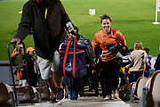 victorious captain Tammy Beaumont of Southern Vipers smiles as she walks back to the changing room after leading the vipers to their 4 KSL win at the Ageas Bowl, Southampton, United Kingdom on 21 August 2019.