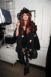 PIXIE GELDOF at a Halloween party hosted by Alexa Chung and Browns Focus held at the House of St.Barnabas, 1 Greek Street, London on 31st October 2008.