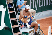 Fernando VERDASCO (ESP) is hurted at it right feet during the Roland Garros French Tennis Open 2018, day 1, on May 27, 2018, at the Roland Garros Stadium in Paris, France - Photo Stephane Allaman / ProSportsImages / DPPI