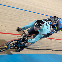 27-12-2018: Wielrennen: NK Baan: Apeldoorn<br />Halve finale sprint Mathijs Buchli klop Harry Lavreijssen