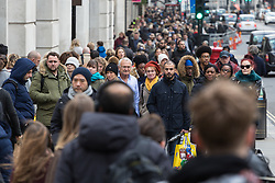 Shoppers throng Regent Street in London as the capital counts down the shopping days left till Christmas London, December 21 2018.