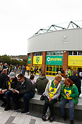 Fans Before EFL Sky Bet Championship match between Norwich City and Hull City at Carrow Road, Norwich, England on 14 October 2017. Photo by John Marsh.